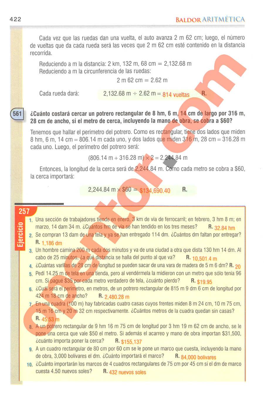 Aritmética de Baldor - Página 422