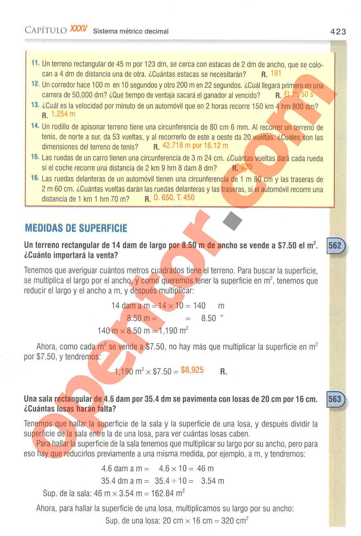Aritmética de Baldor - Página 423