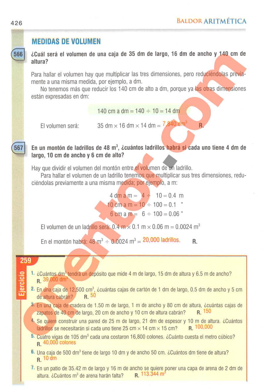 Aritmética de Baldor - Página 426