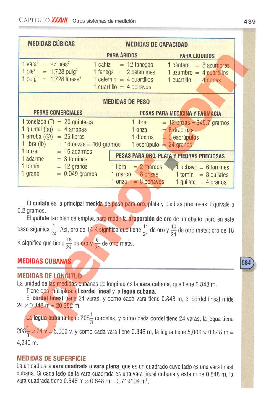 Aritmética de Baldor - Página 439