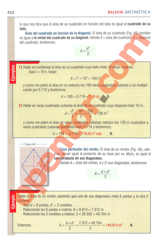 Aritmética de Baldor - Página 452