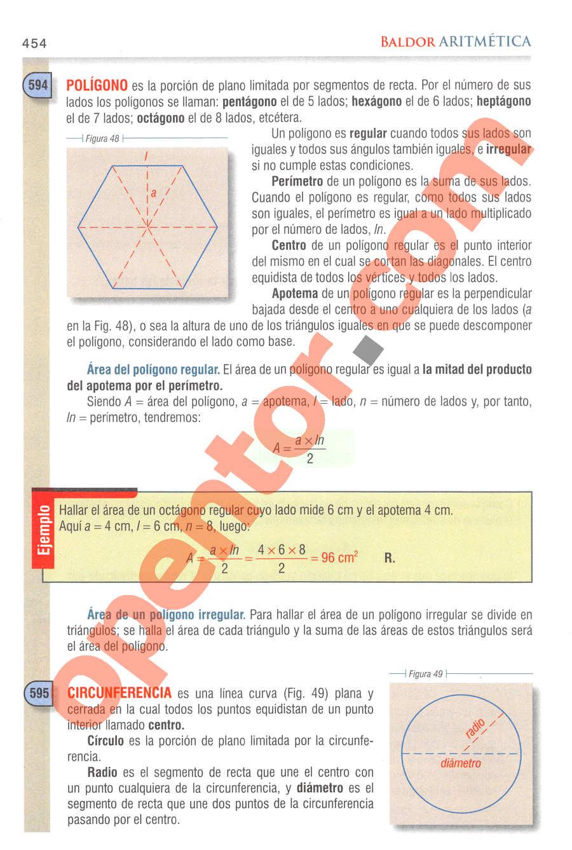 Aritmética de Baldor - Página 454