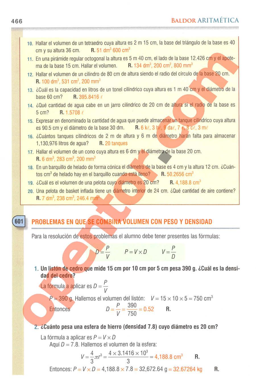 Aritmética de Baldor - Página 466