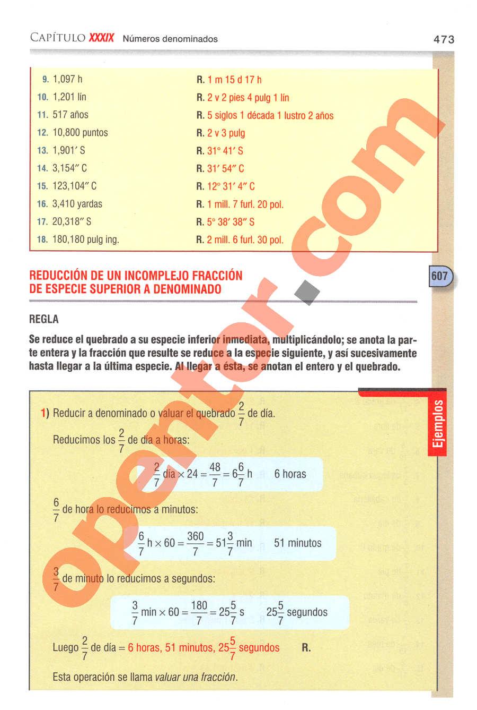Aritmética de Baldor - Página 473