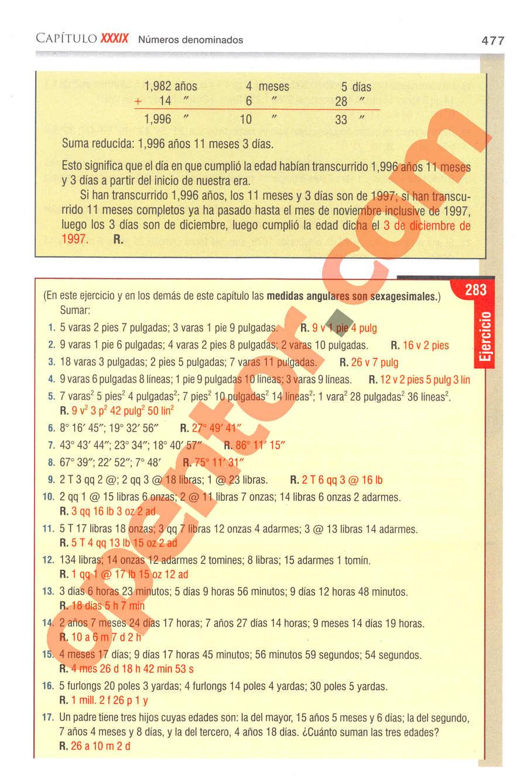 Aritmética de Baldor - Página 477
