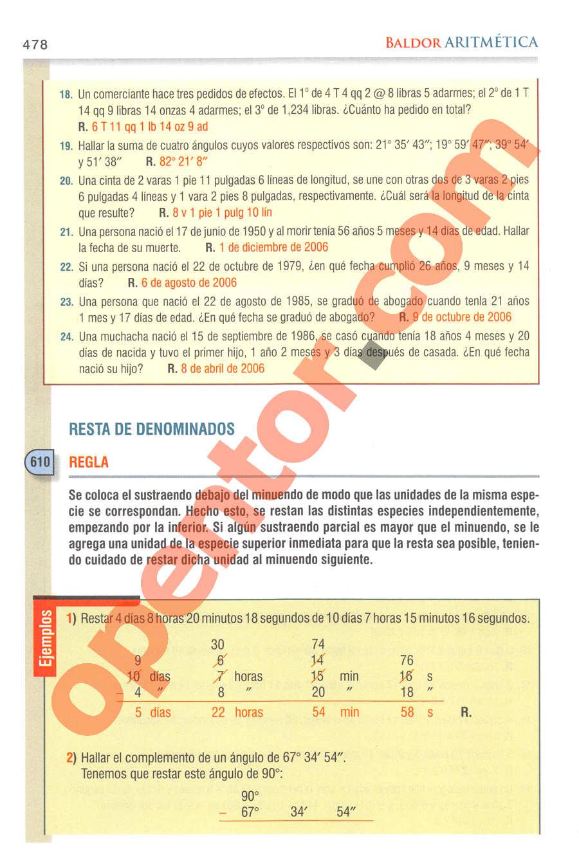 Aritmética de Baldor - Página 478