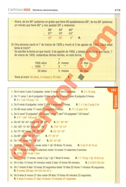 Aritmética de Baldor - Página 479