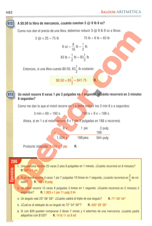 Aritmética de Baldor - Página 482