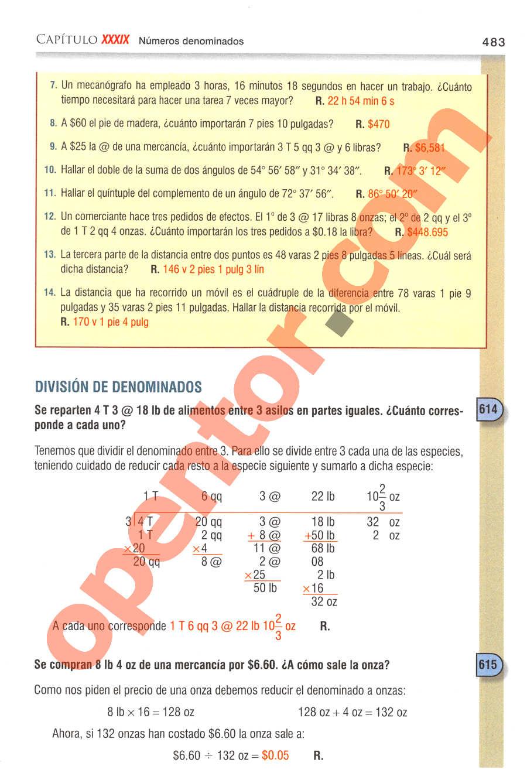 Aritmética de Baldor - Página 483