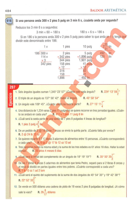 Aritmética de Baldor - Página 484