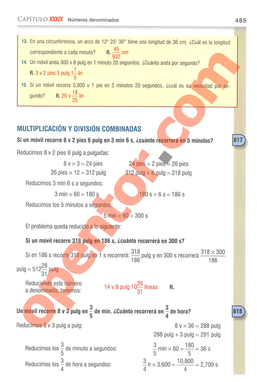 Aritmética de Baldor - Página 485
