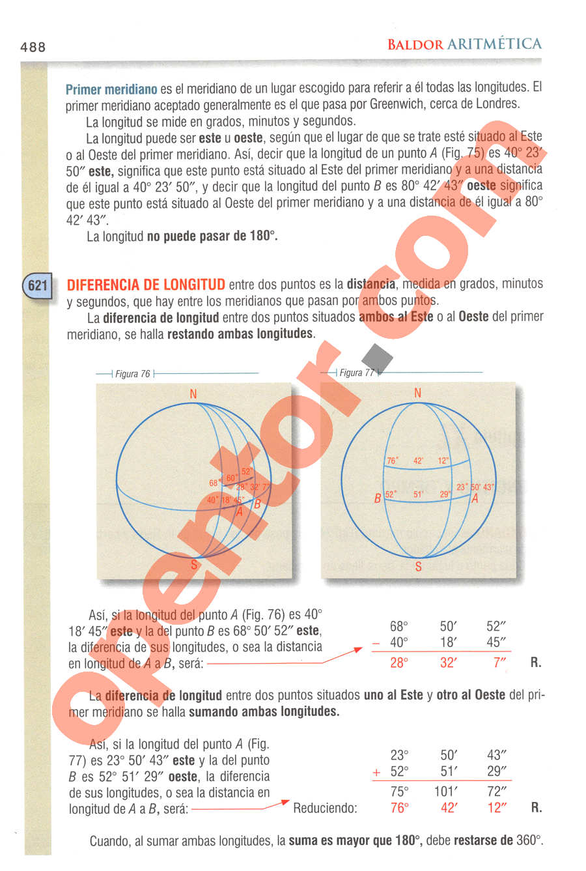 Aritmética de Baldor - Página 488