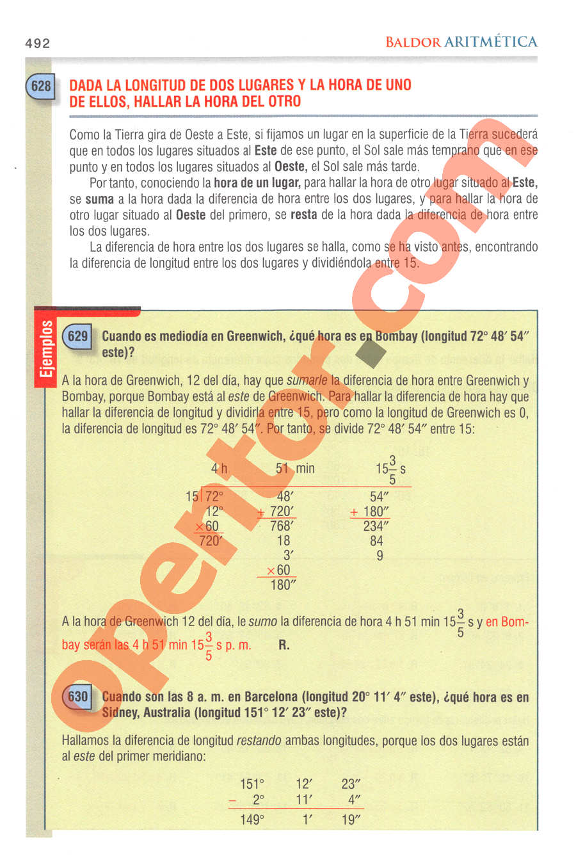 Aritmética de Baldor - Página 492