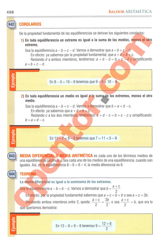 Aritmética de Baldor - Página 498