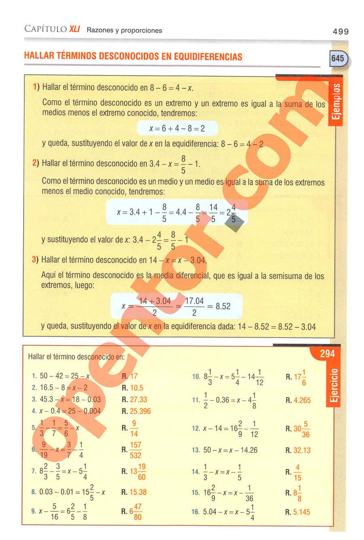Aritmética de Baldor - Página 499