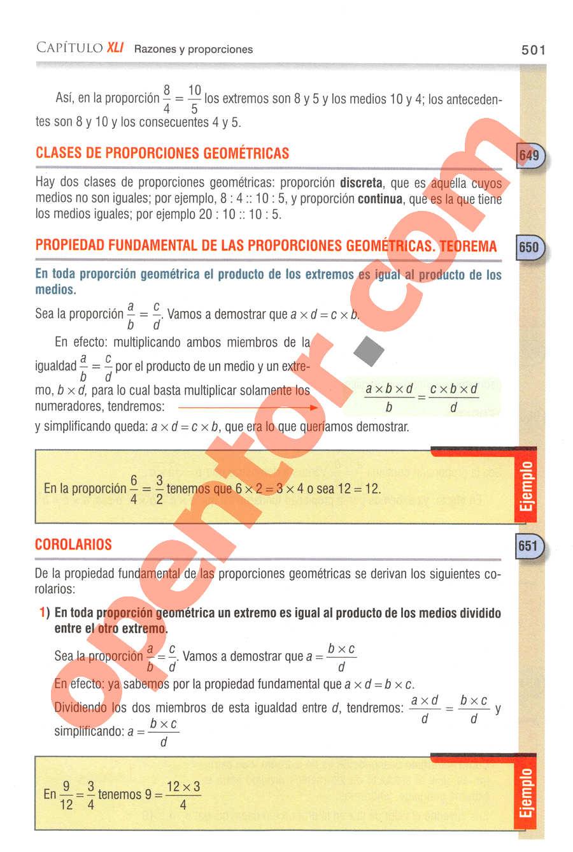 Aritmética de Baldor - Página 501