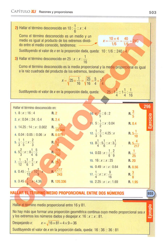 Aritmética de Baldor - Página 503