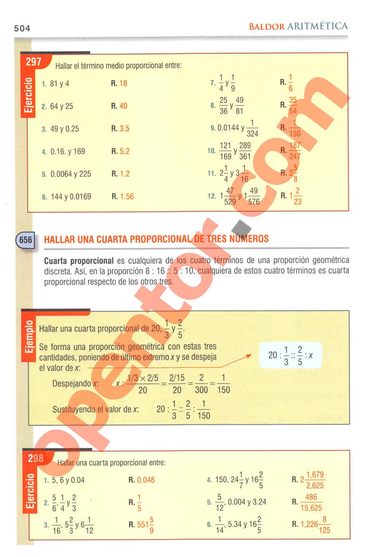 Aritmética de Baldor - Página 504