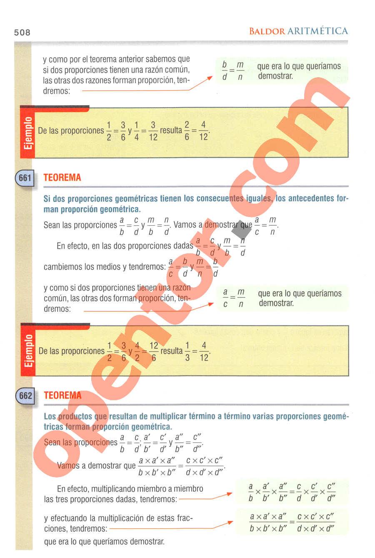 Aritmética de Baldor - Página 508