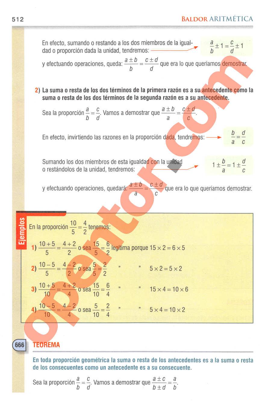 Aritmética de Baldor - Página 512
