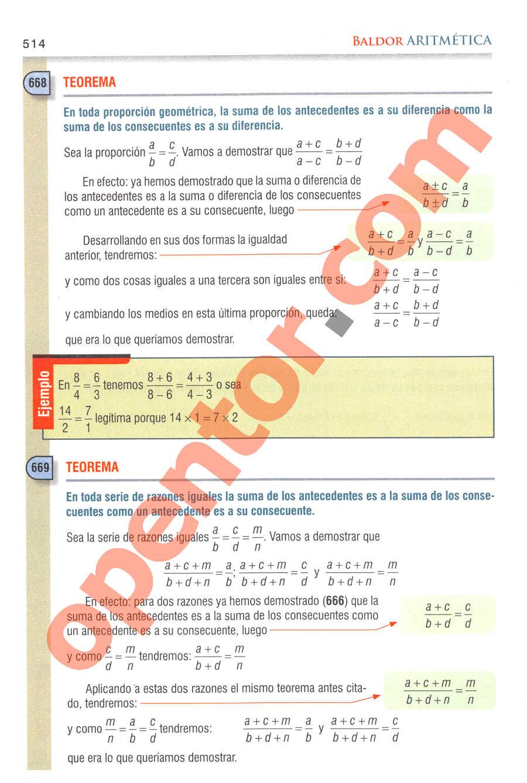 Aritmética de Baldor - Página 514