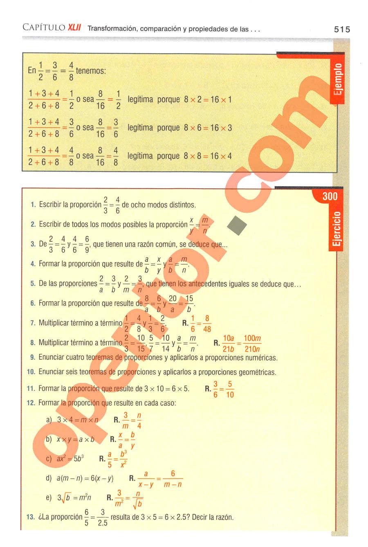 Aritmética de Baldor - Página 515