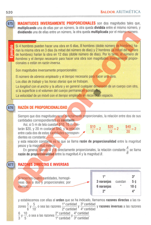 Aritmética de Baldor - Página 520