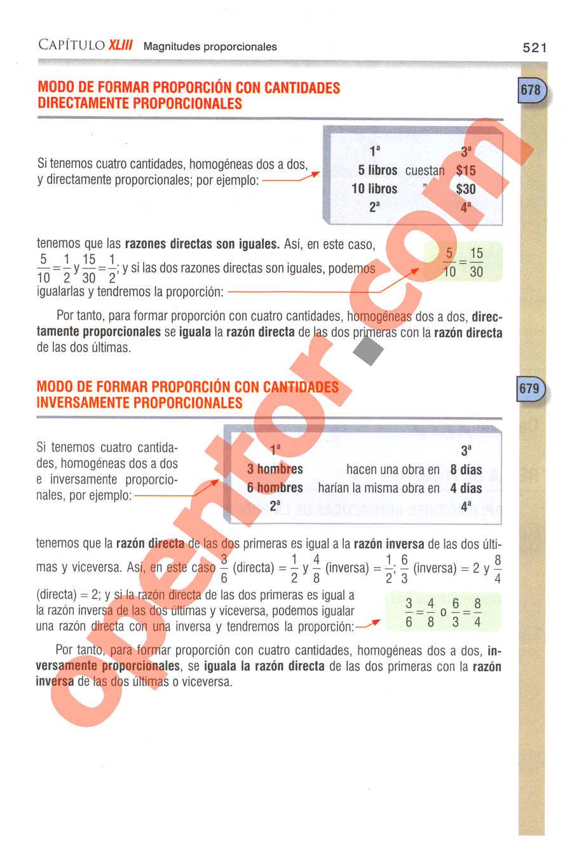 Aritmética de Baldor - Página 521