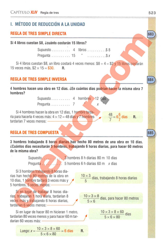 Aritmética de Baldor - Página 523