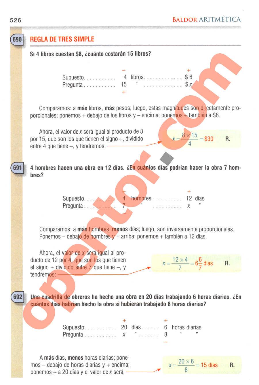 Aritmética de Baldor - Página 526