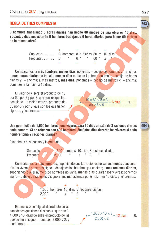 Aritmética de Baldor - Página 527