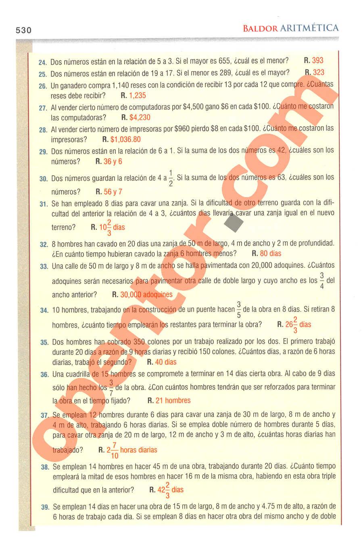 Aritmética de Baldor - Página 530