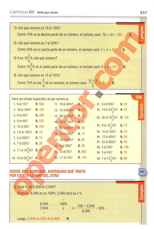Aritmética de Baldor - Página 537