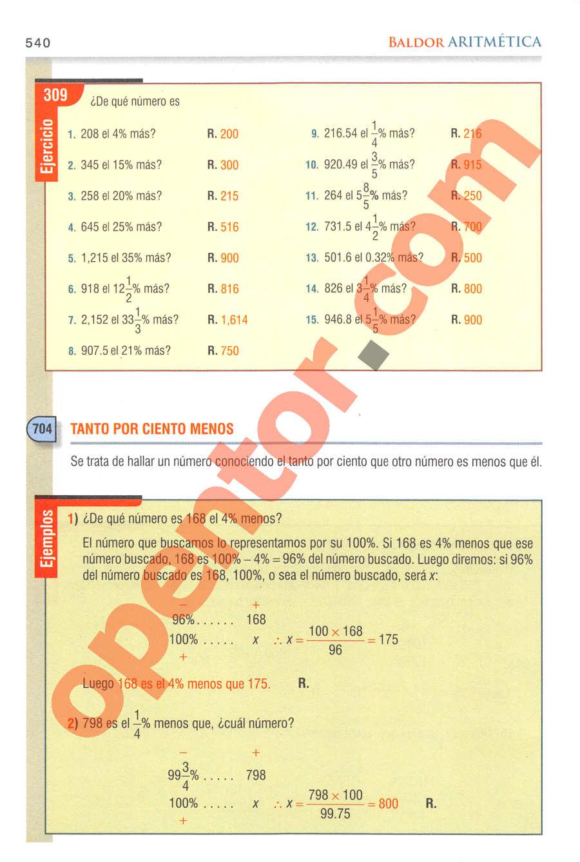 Aritmética de Baldor - Página 540