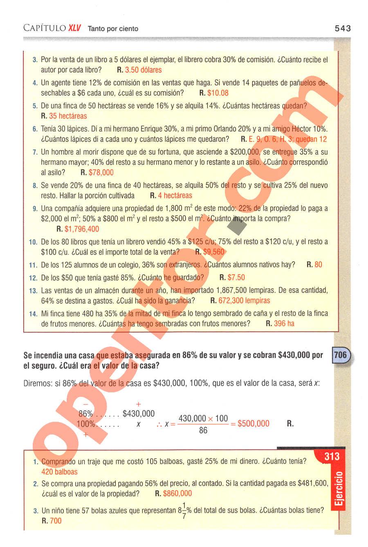 Aritmética de Baldor - Página 543