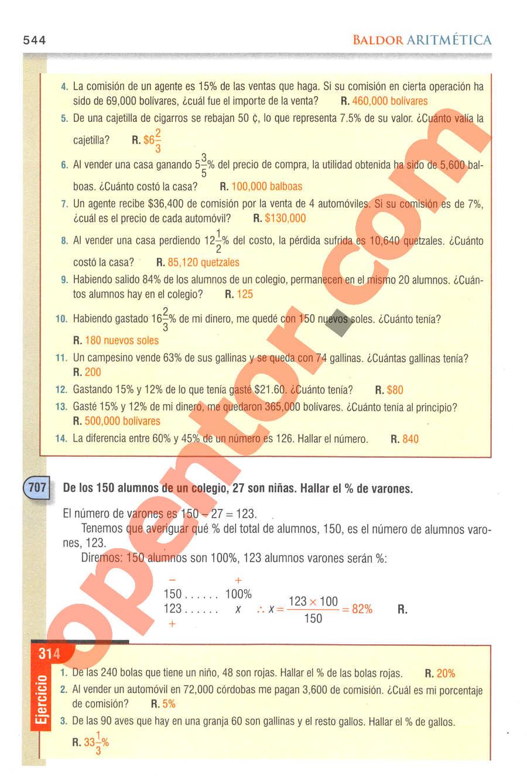 Aritmética de Baldor - Página 544