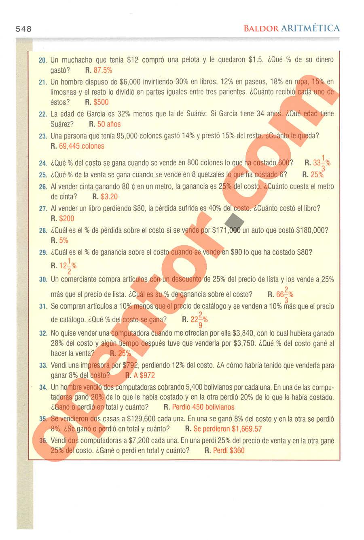 Aritmética de Baldor - Página 548