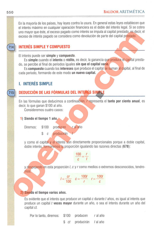 Aritmética de Baldor - Página 550