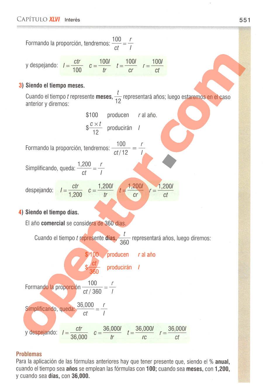 Aritmética de Baldor - Página 551