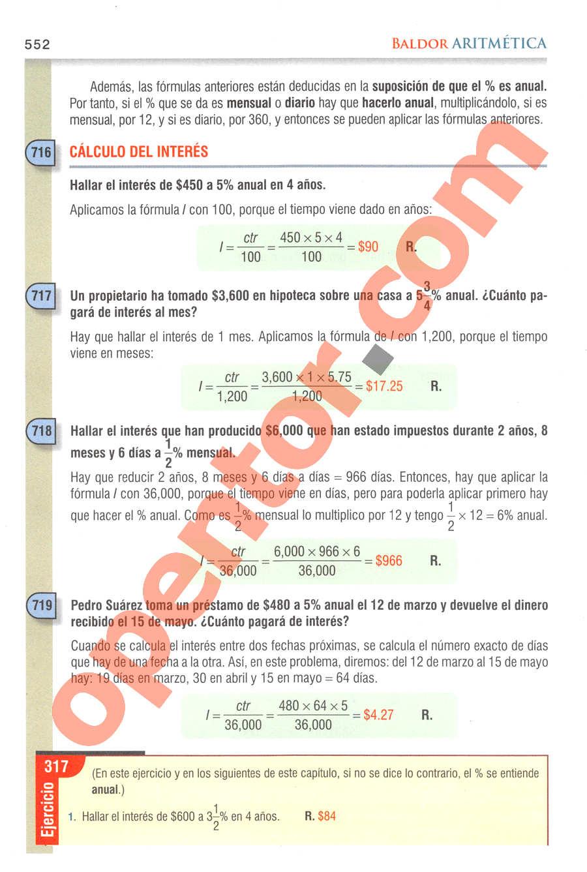 Aritmética de Baldor - Página 552