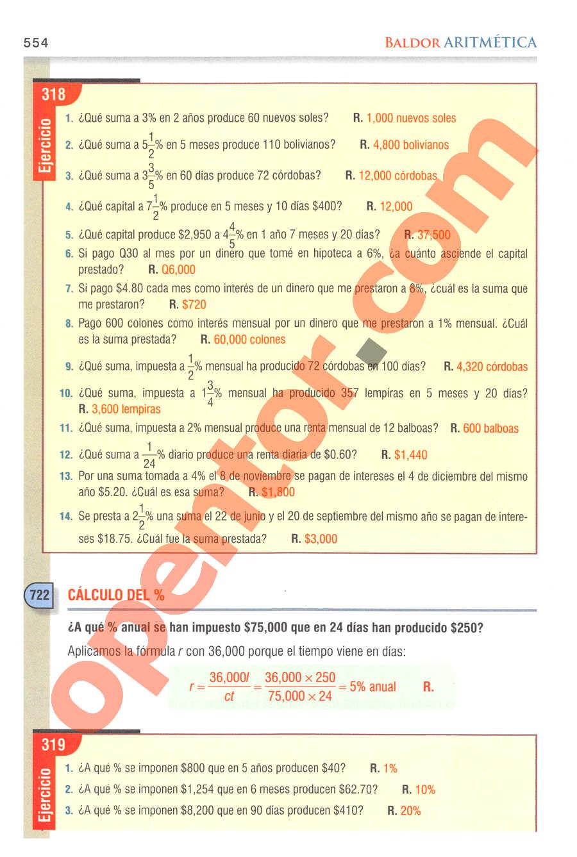 Aritmética de Baldor - Página 554