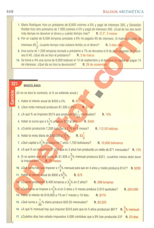 Aritmética de Baldor - Página 556