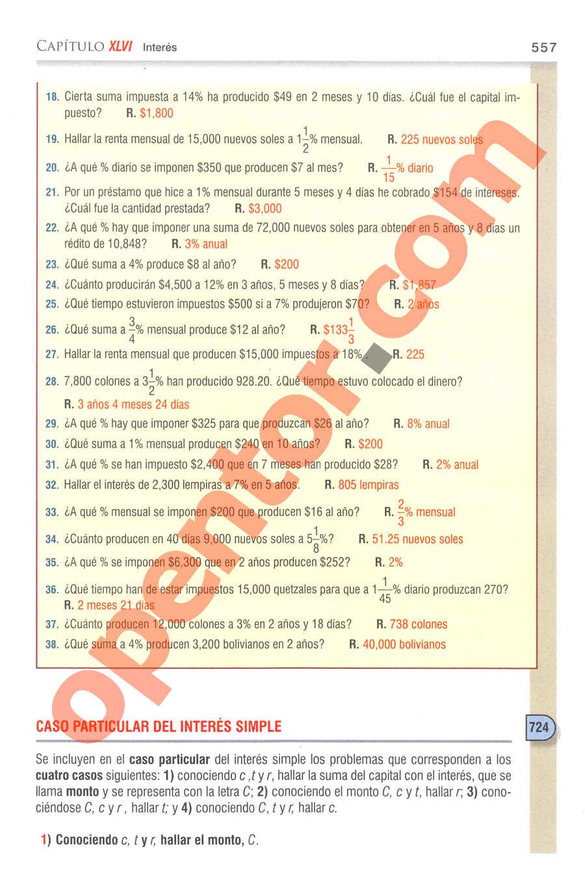 Aritmética de Baldor - Página 557