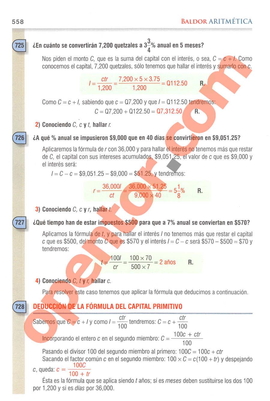Aritmética de Baldor - Página 558