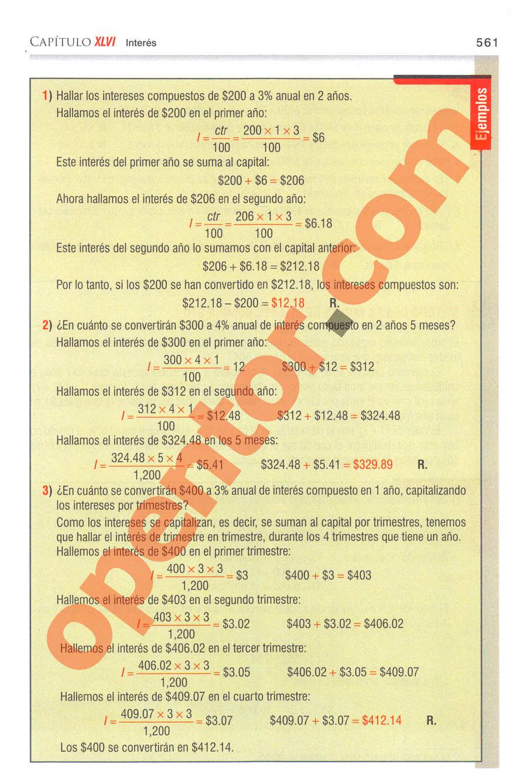 Aritmética de Baldor - Página 561