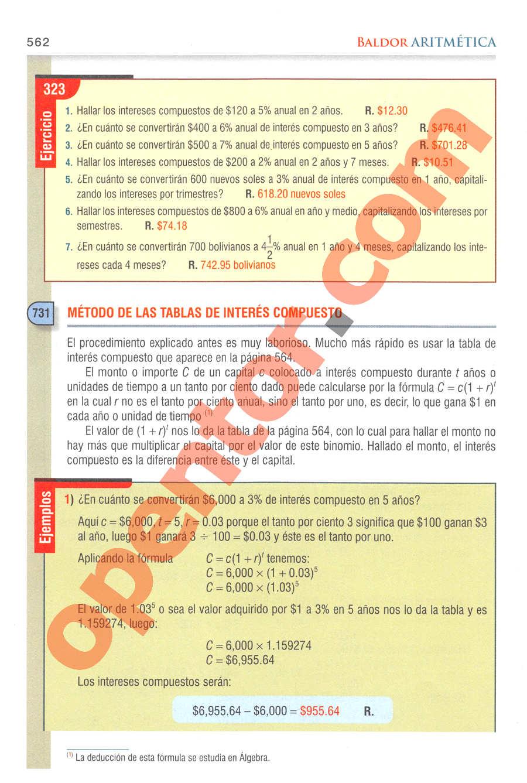 Aritmética de Baldor - Página 562