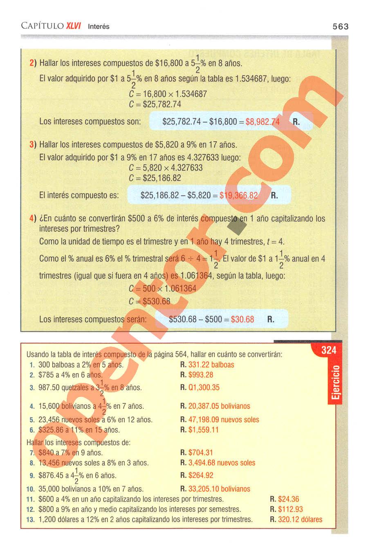 Aritmética de Baldor - Página 563