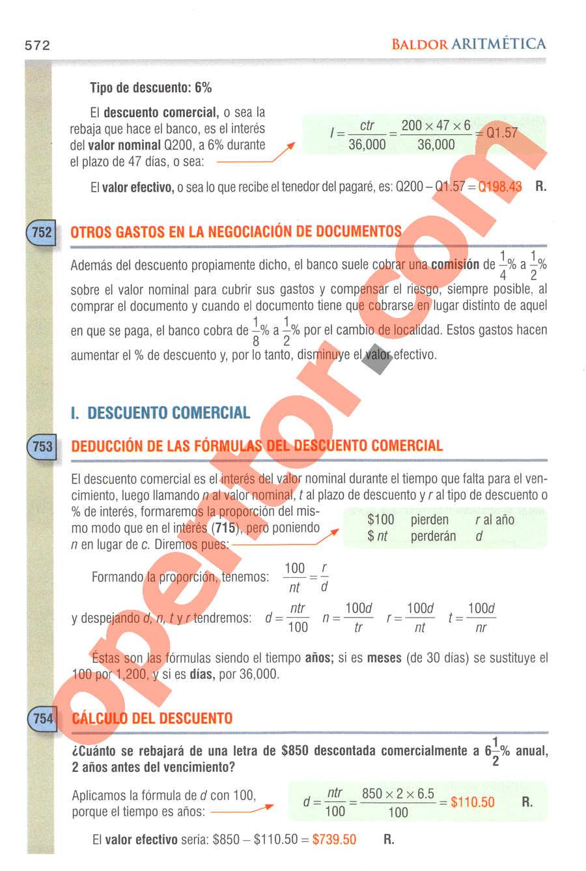 Aritmética de Baldor - Página 572