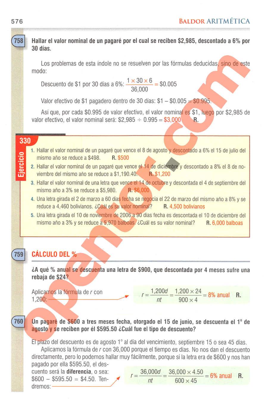 Aritmética de Baldor - Página 576