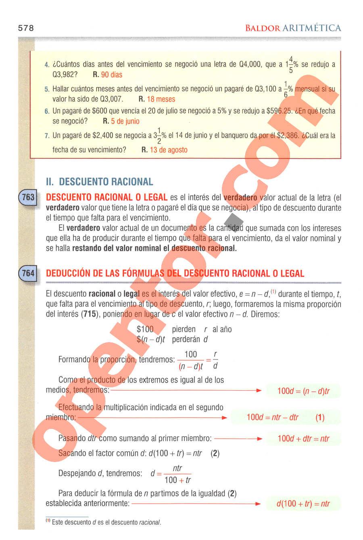 Aritmética de Baldor - Página 578
